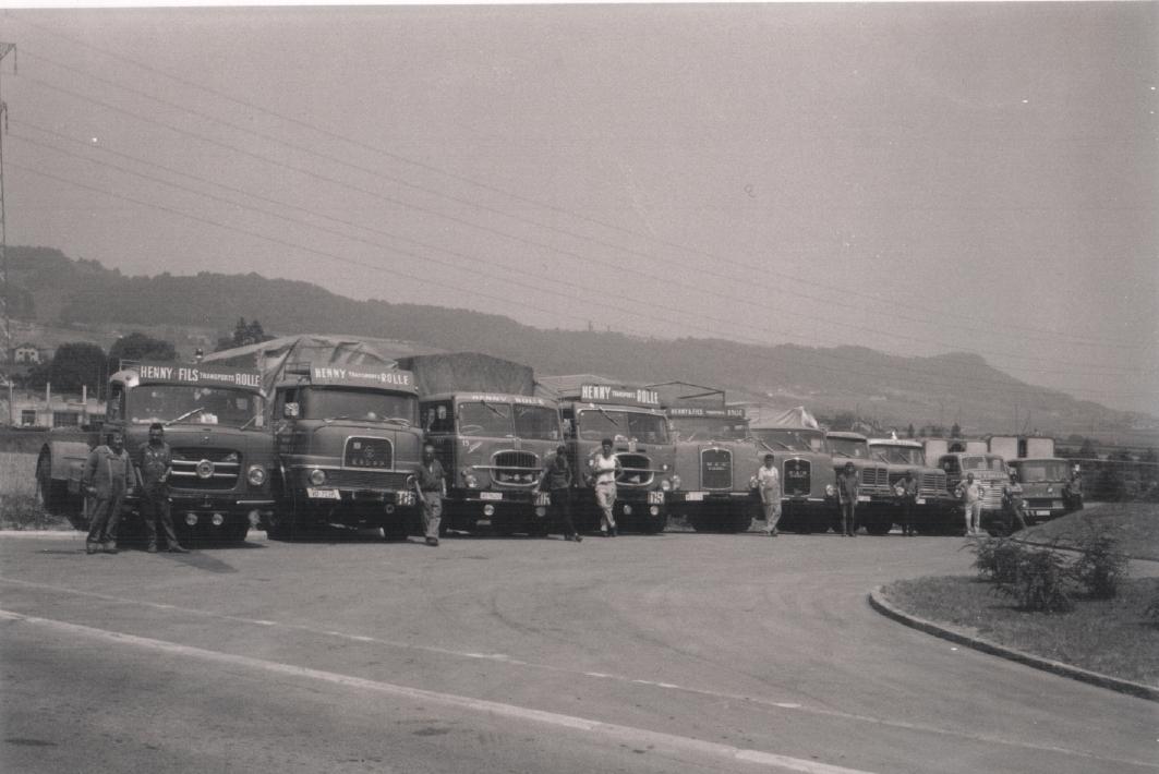 L'équipe Henny Transports vers 1970