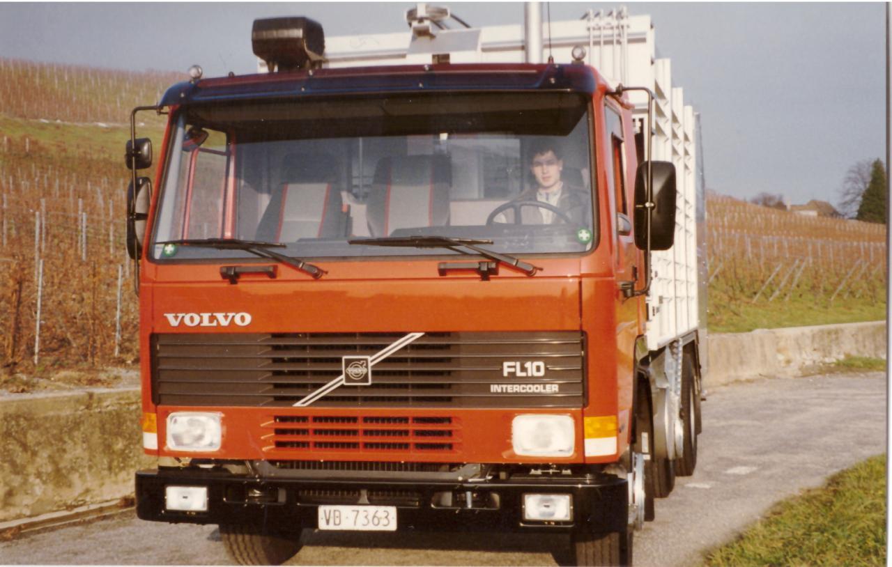 1993 : un jeune chauffeur en tournée